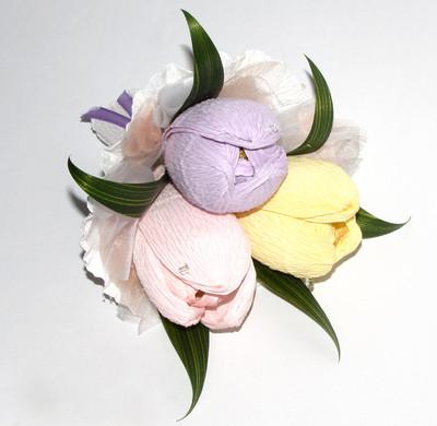Как сделать тюльпаны из конфет своими руками для начинающих фото 17