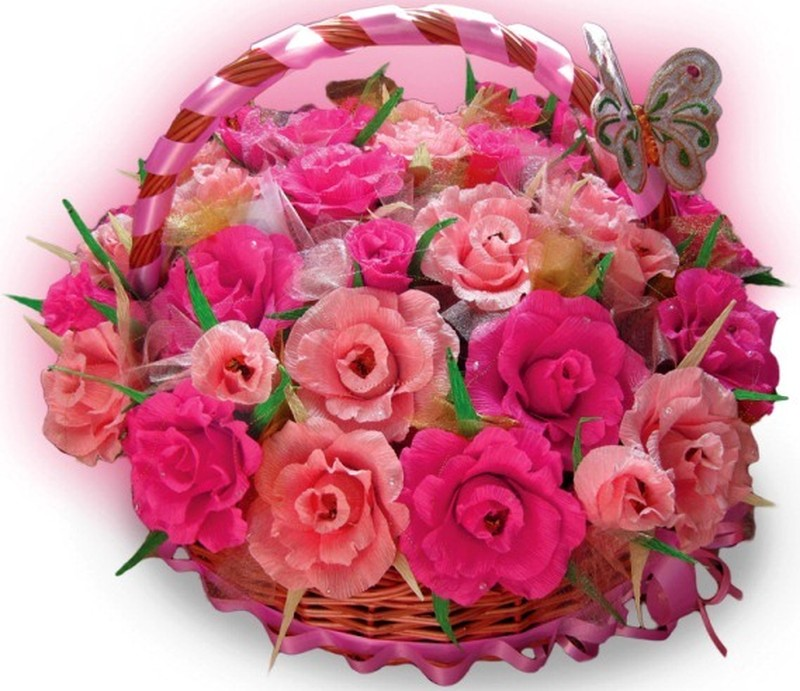 Букеты из конфет Роза своими руками